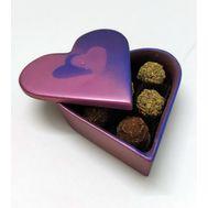 Шоколаная шкатулка с шоколадными трюфельными конфетами (6 шт.)