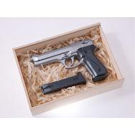Пистолет Beretta 92 шоколадный серебристый в наборе