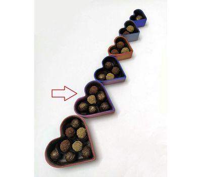 Шоколадная шкатулка с шоколадными трюфельными конфетами (6 шт.)