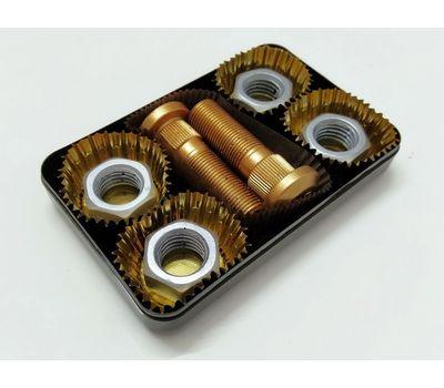 4 гайки + 2 шпильки, шоколадные