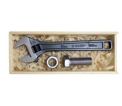 Набор малый с разводным кованным ключом, шоколадный