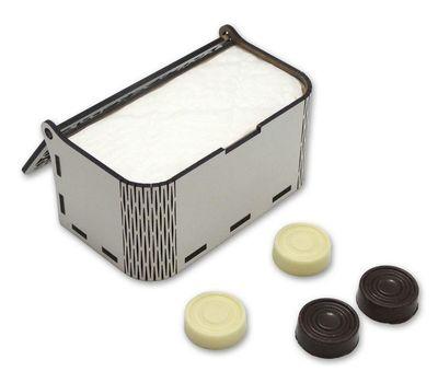 Шашки шоколадные в шкатулке